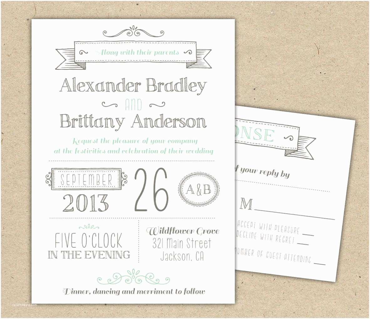 Wedding Invitations to Print at Home for Free Wedding Invitations Template Free Download