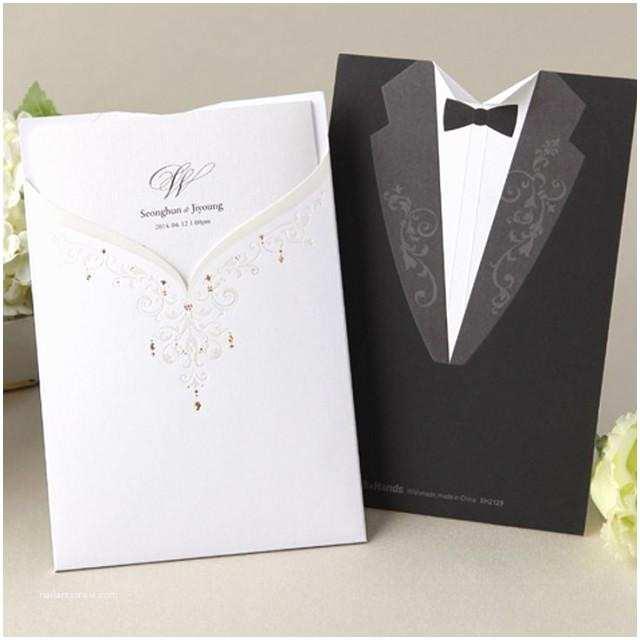 bhands card 1 sample set wedding luxury invitation dress tuxedo tie bh2129