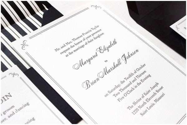 Wedding Invitations Tuxedo Margaret Brian S Elegant formal Wedding Invitations