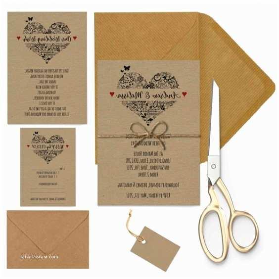 Wedding Invitations Under $1 Heart for Wedding Invitations