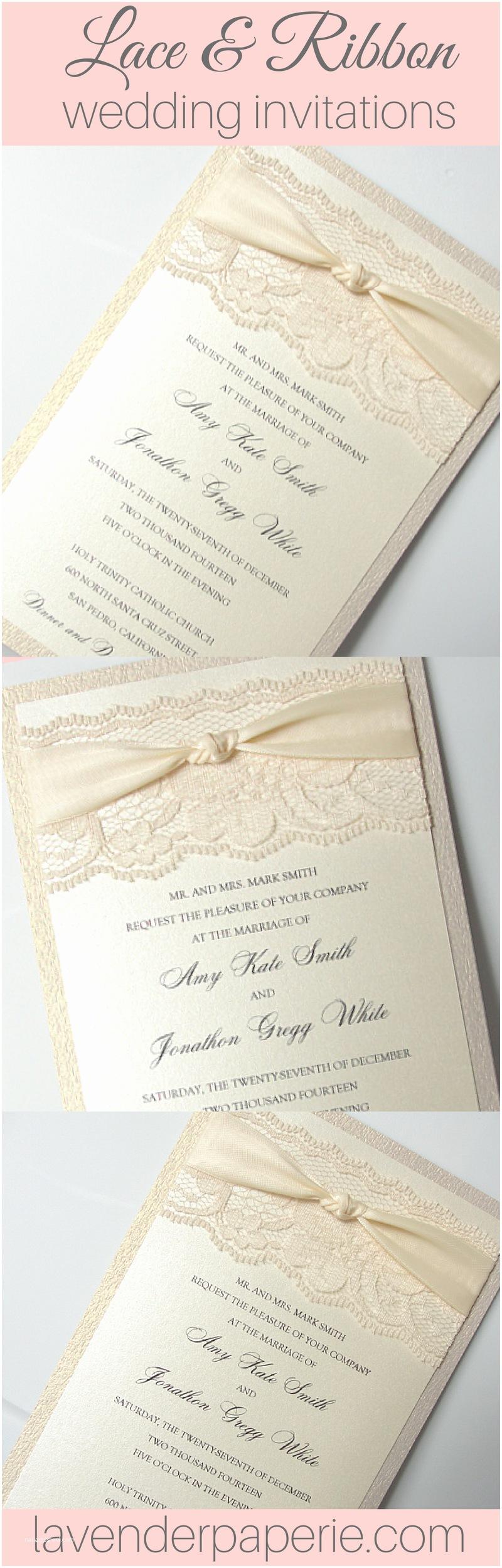 Wedding Invitations Under $1 Lace Wedding Invites Lace Wedding Invitations