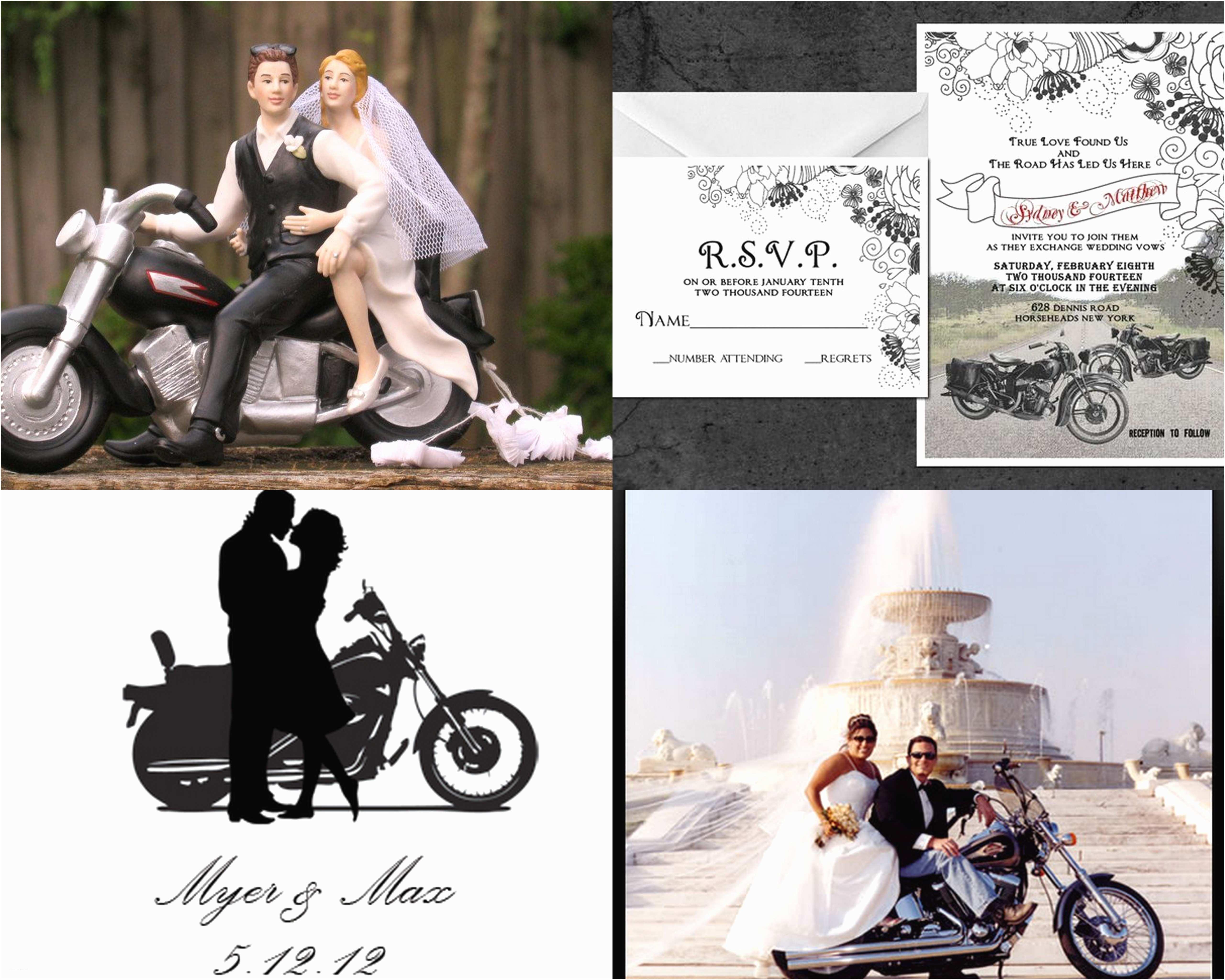 Wedding Invitations Under $1 Motorcycle Based Wedding Invitation
