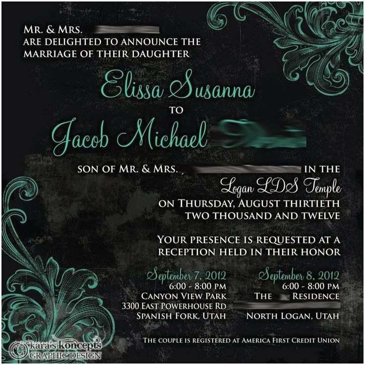 Wedding Invitations Utah Kara S Koncepts • Utah Wedding Invitations • Custom