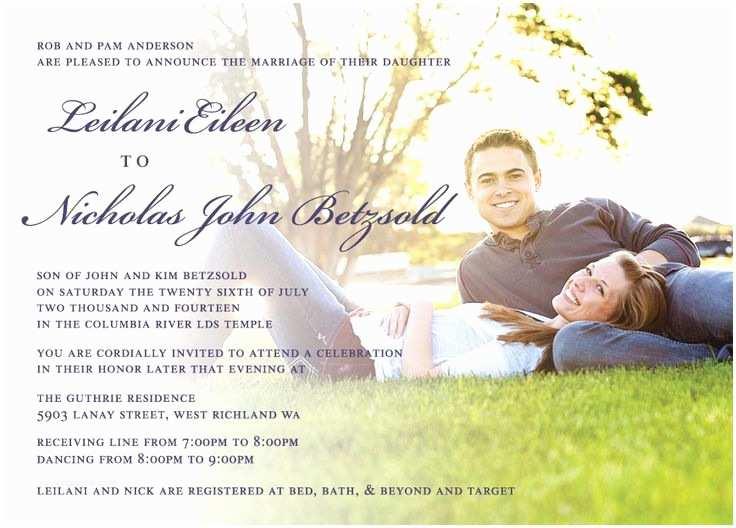 Wedding Invitations Utah Lailanie & Nicholas Front Utah Announcements
