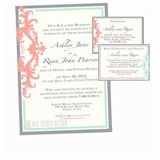 Wedding Invitations Utah Wedding Announcements Red Ladder Design Utah Wedding