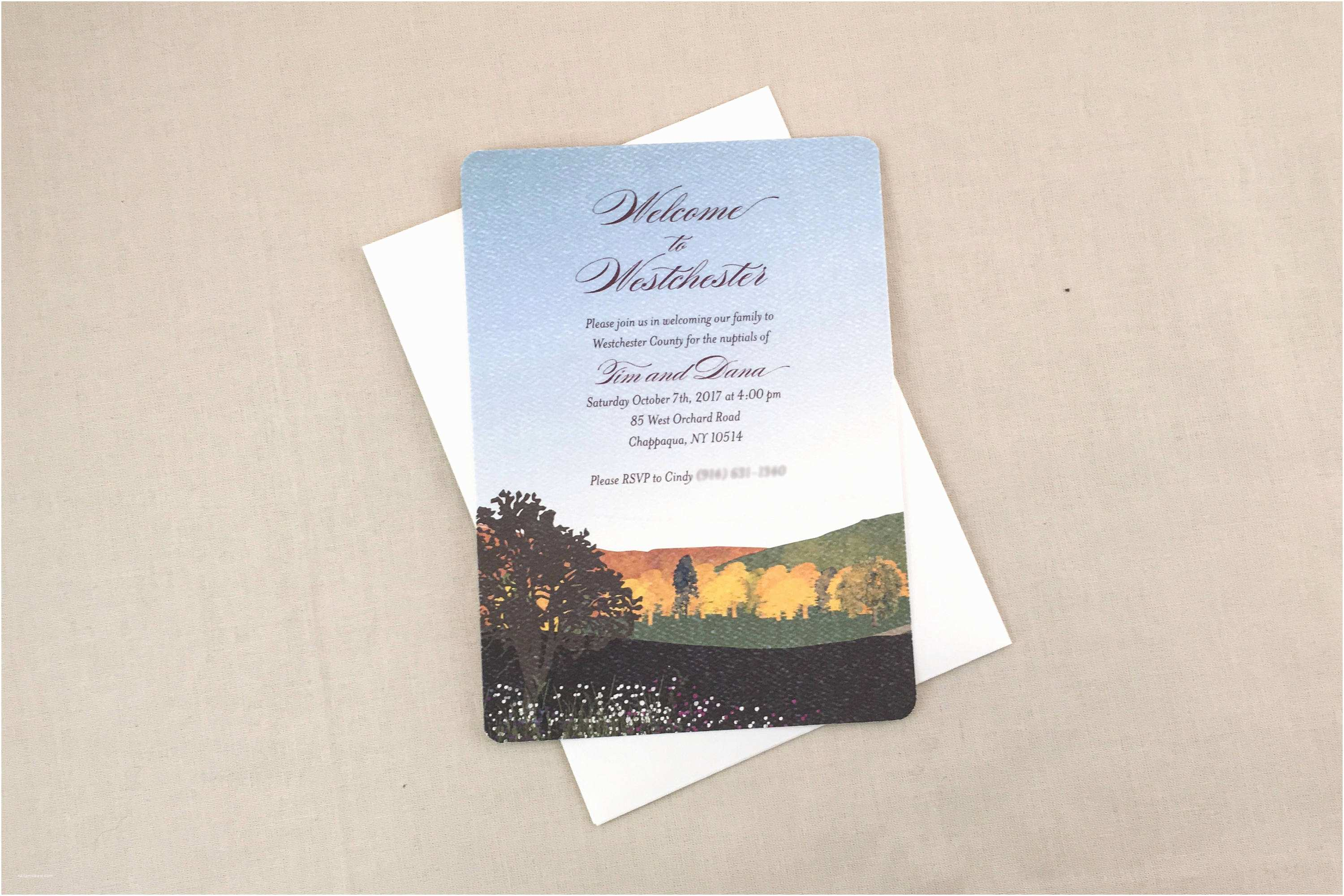 Wedding Invitations Westchester Ny Wel E Party Fall Mountain Landscape 5×7 Wedding