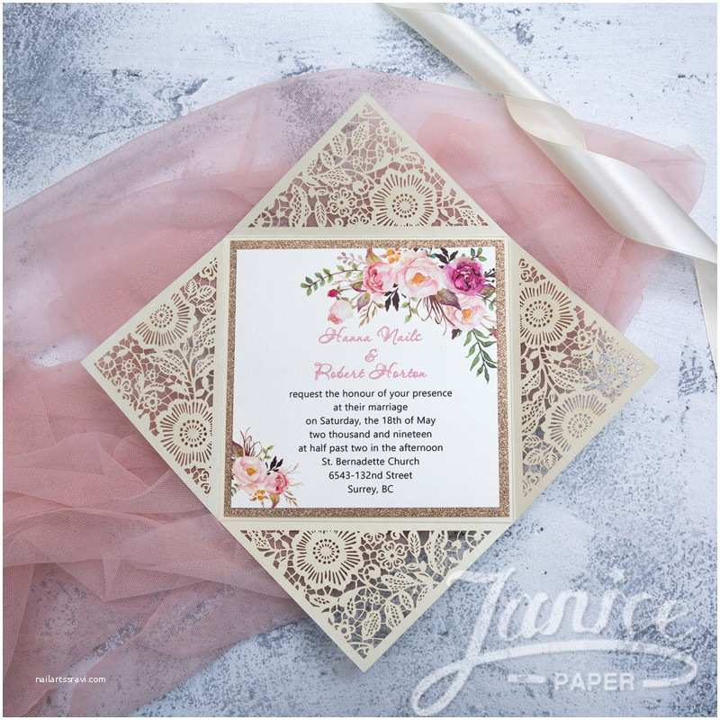 Wedding Invitations wholesale Suppliers White Floral Laser Cut wholesale Wedding Invitations