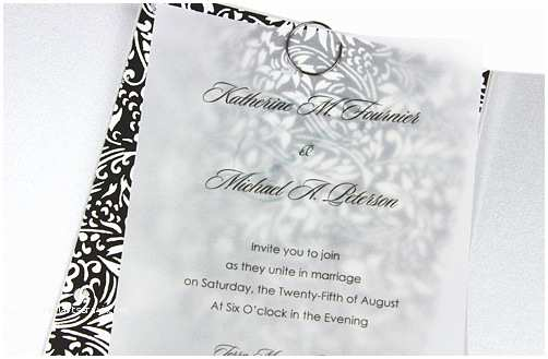 Wedding Invitations with Clear Overlay 5 Vellum Wedding Invitation Ideas You Can Do