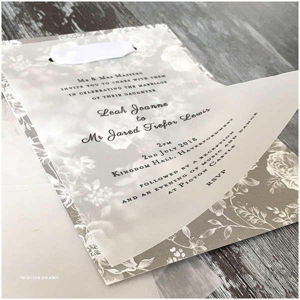 Wedding Invitations with Clear Overlay Clear Vellum Paper Imagine Diy