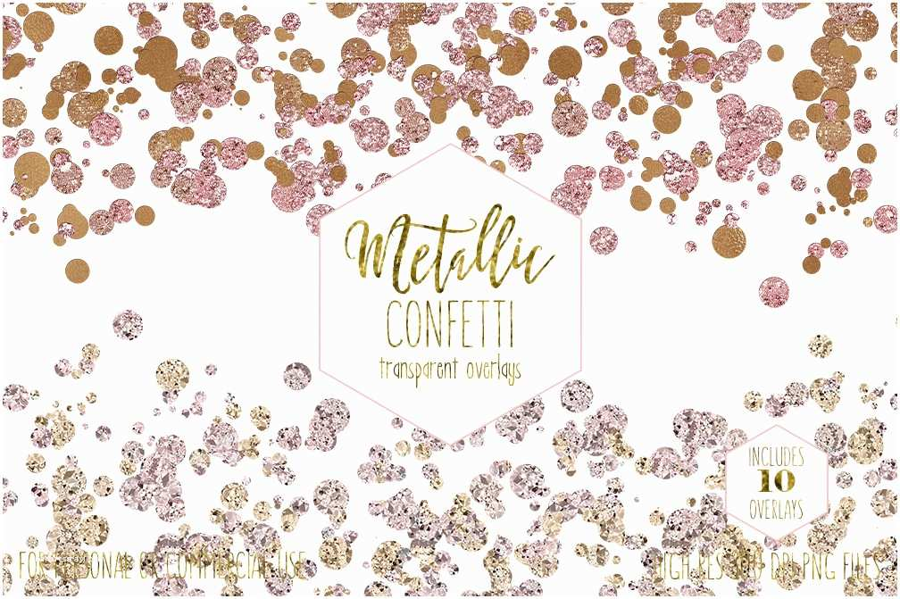 Wedding Invitations with Clear Overlay Gold Confetti Borders Clipart for Mercial Use Clip Art