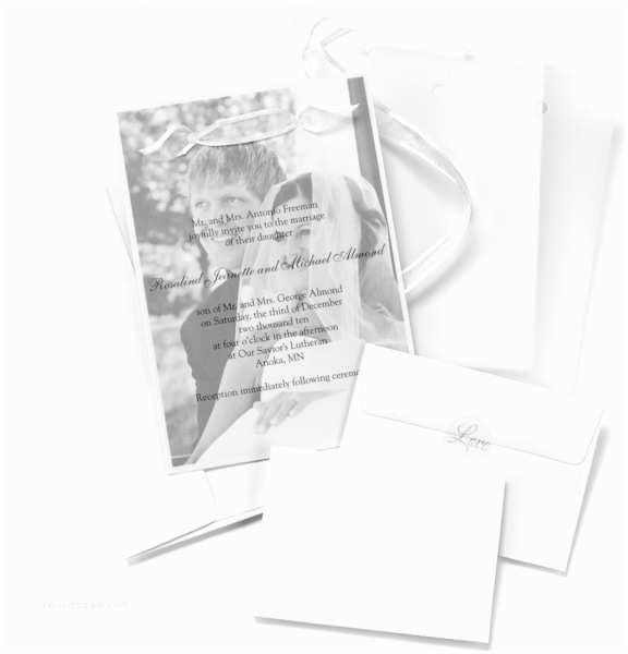 Wedding Invitations with Clear Overlay Overlay Wedding Invitation Kit Set Of 25