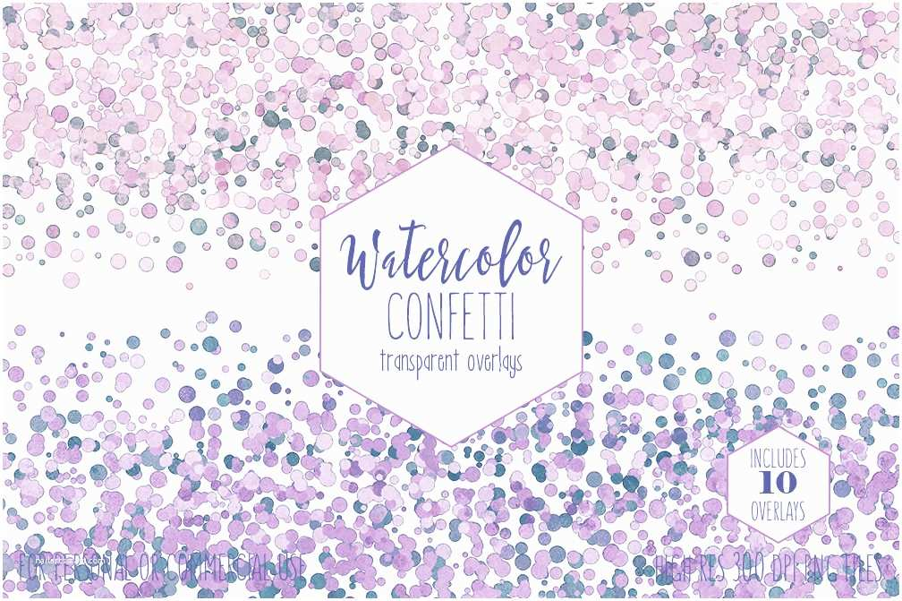 Wedding Invitations with Clear Overlay Party Confetti Border Clipart Mercial Use Clip Art 10