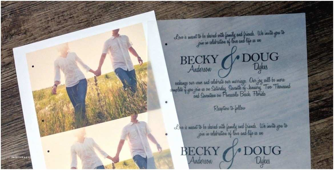 Wedding Invitations with Clear Overlay Rustic Wedding Invitation with Vellum Overlay My Paper Craze