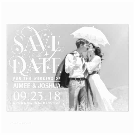 Wedding Invitations with Clear Overlay Save the Date soft Transparent Overlay Text Magnetic