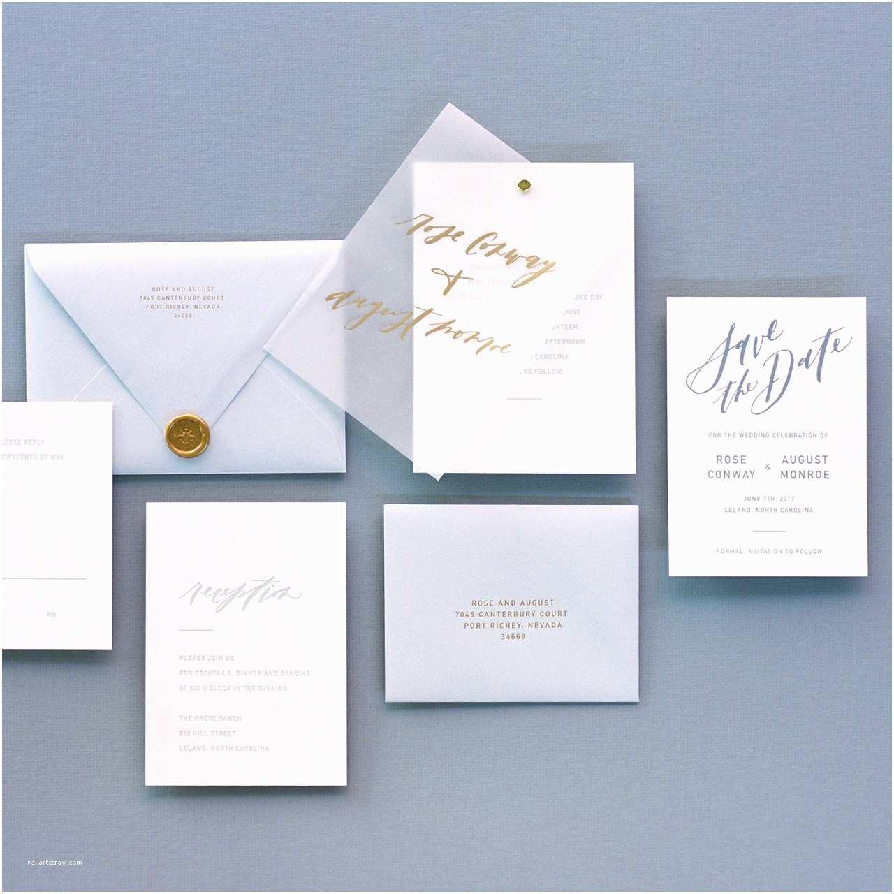 Wedding Invitations with Clear Overlay Trendspotting Vellum Inspiration