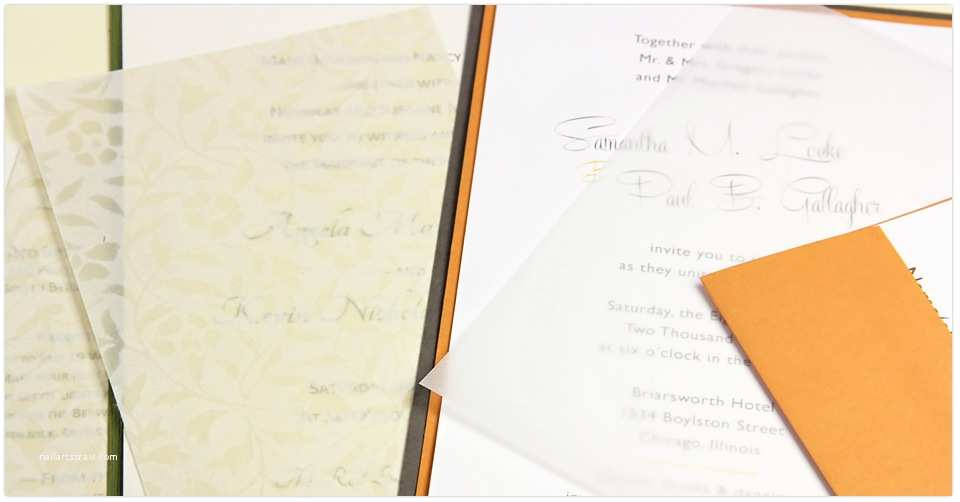 Wedding Invitations with Clear Overlay Use Tissue Inserts Vellum Overlays for Your Invitations