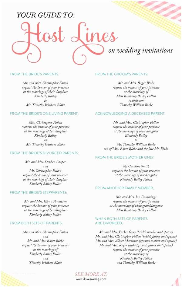 Wedding Invitations with Parents Names A Plete Guide to Host Lines On Wedding Invitations