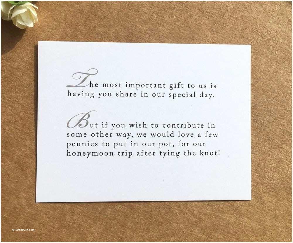Wedding Invitations with Photo Insert Wedding Poem Card Inserts Wedding Invitations Money Cash