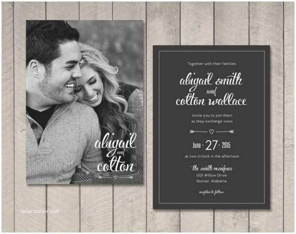 Wedding Invitations with Pictures Of Couple 33 Traditional Wedding Invitation Templates – Free Sample