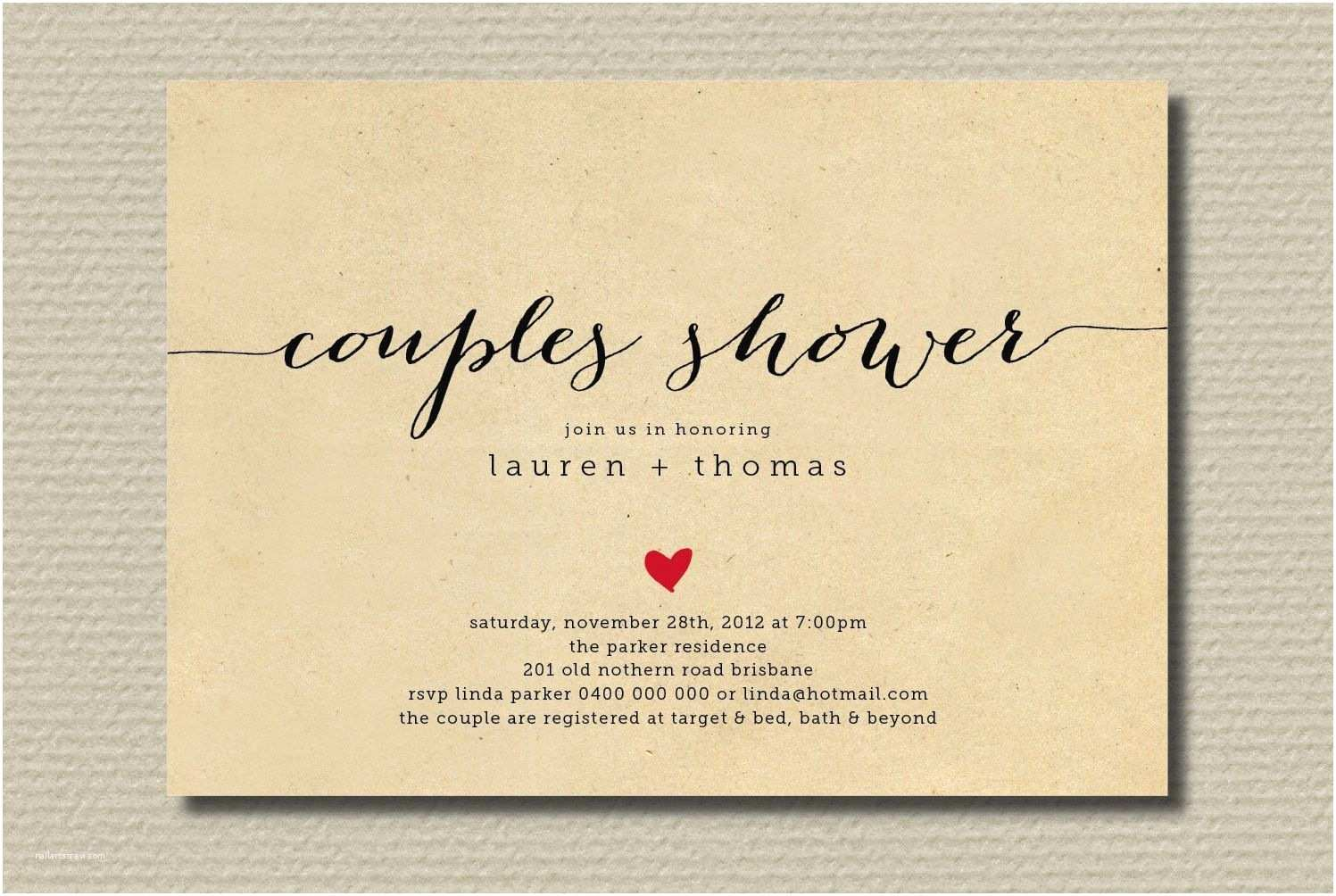 Wedding Invitations with Pictures Of Couple Couples Wedding Shower Invitations