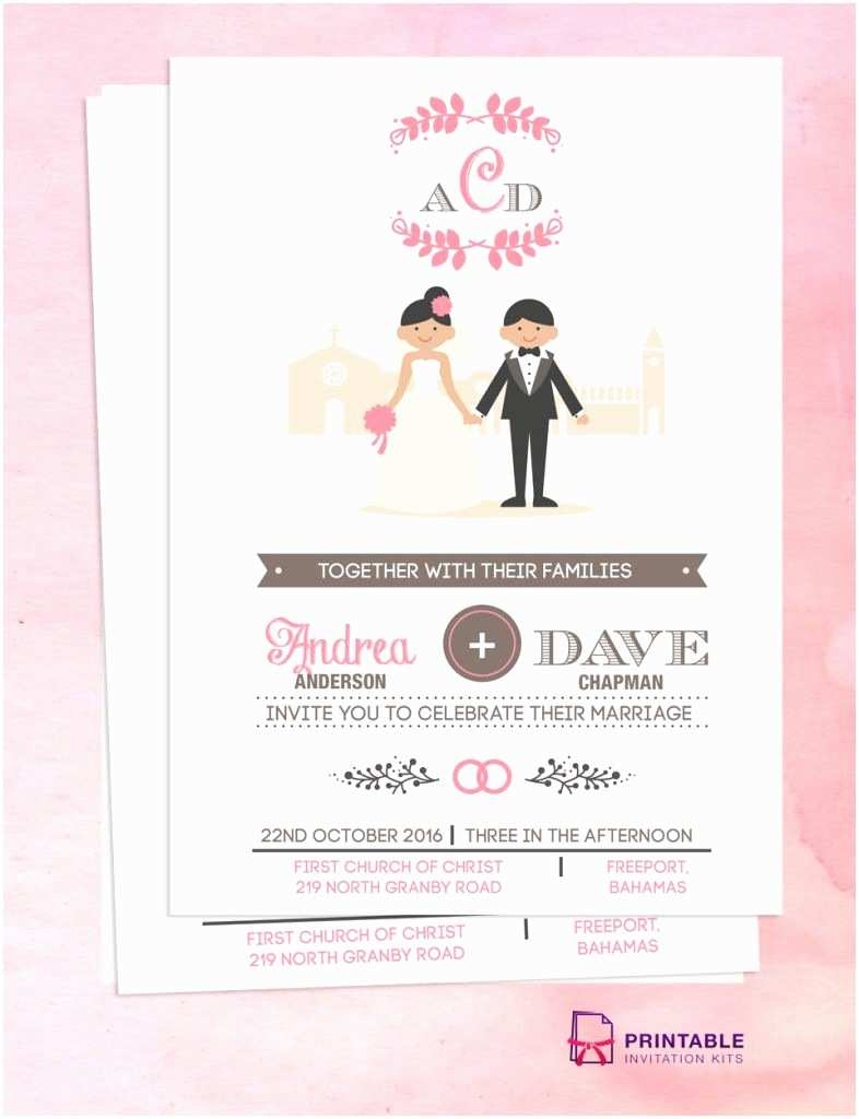 Wedding Invitations With Pictures Of Couple Free Pdf Download Couple Cartoon In Front Of