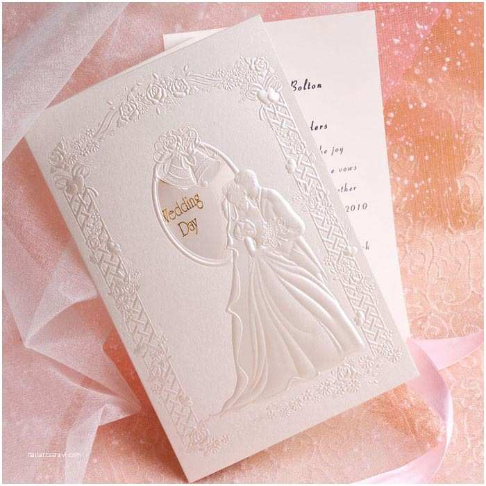 Wedding Invitations with Pictures Of Couple Romantic Couple In Wedding Folded Wedding Invitations