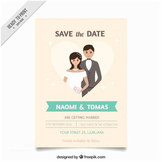 Wedding Invitations With Pictures Of Couple Wedding Invitation With A Cute Couple Inside A