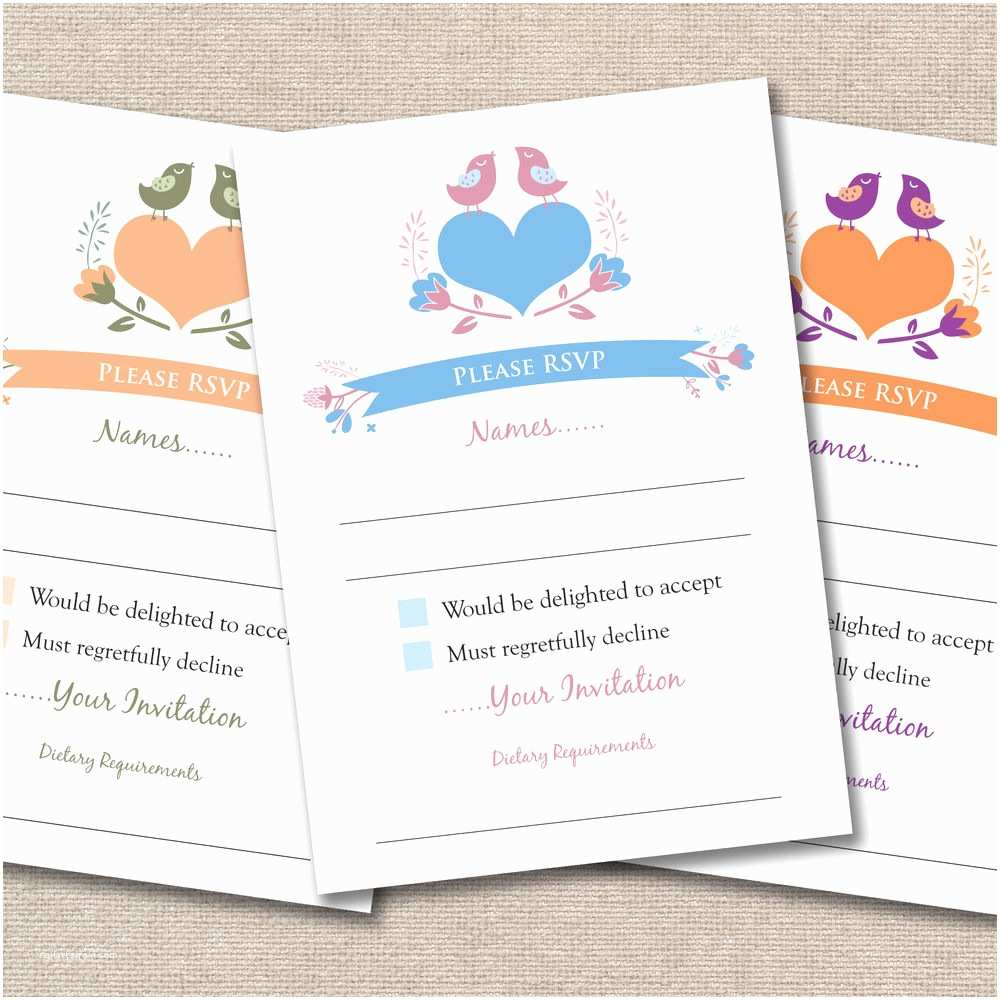 Wedding Invitations With Response Cards And Envelopes 25 X Wedding A7 Rsvp Cards & Envelopes Vintage