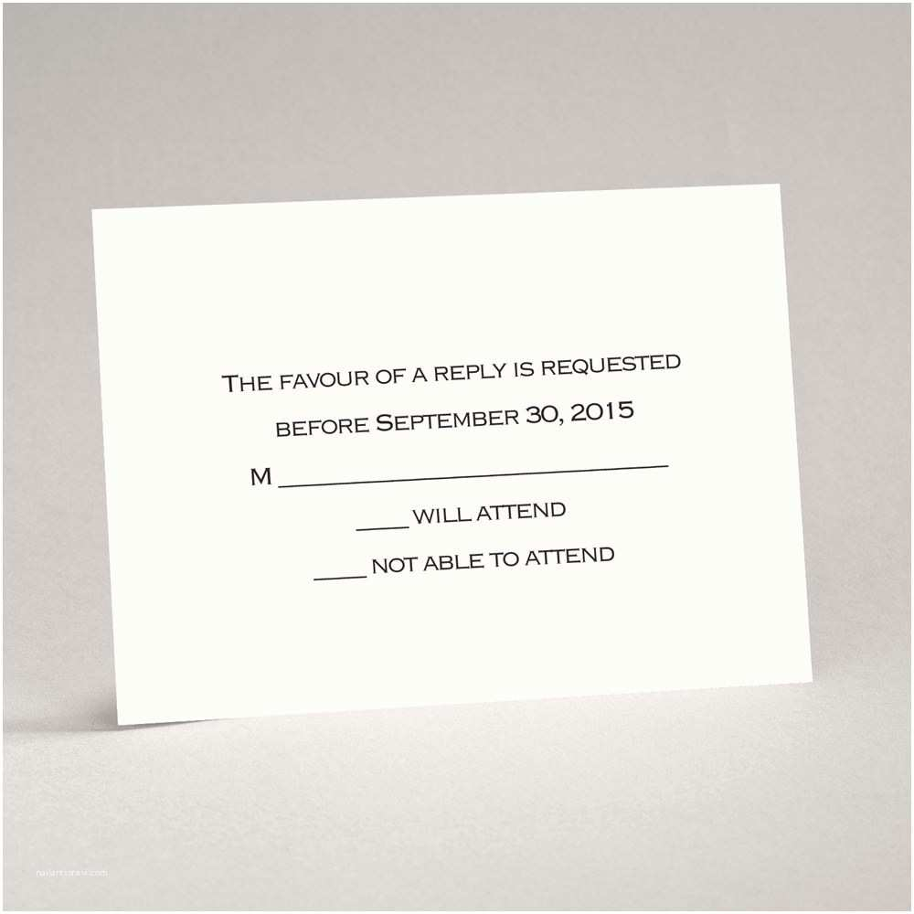 Wedding Invitations With Response Cards And S Ecru Response Card And