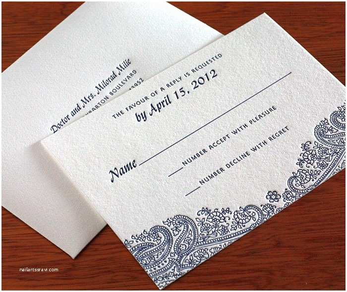 Wedding Invitations with Response Cards and Envelopes Floral Paisley Indian Wedding Rsvp Envelope
