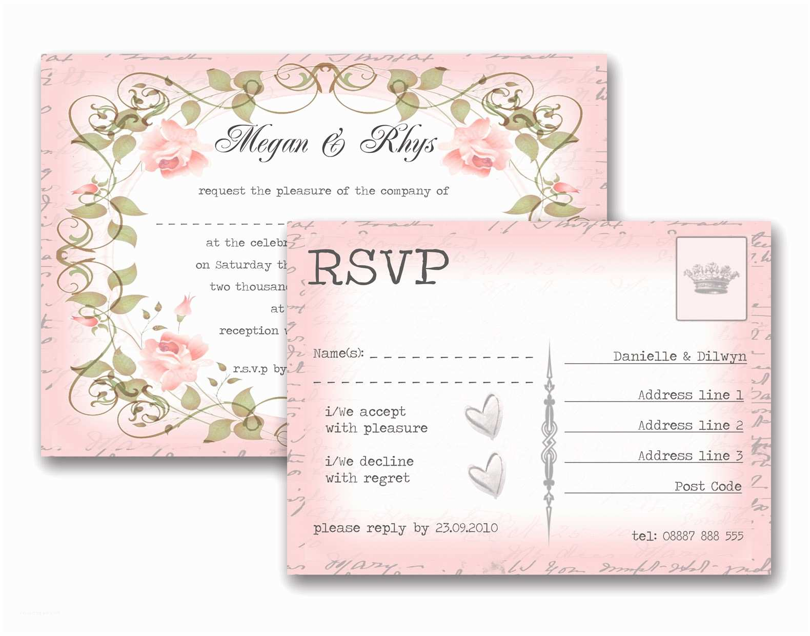 Wedding Invitations With Response Cards And Envelopes Invitations Lovable Wedding Response Card Wording