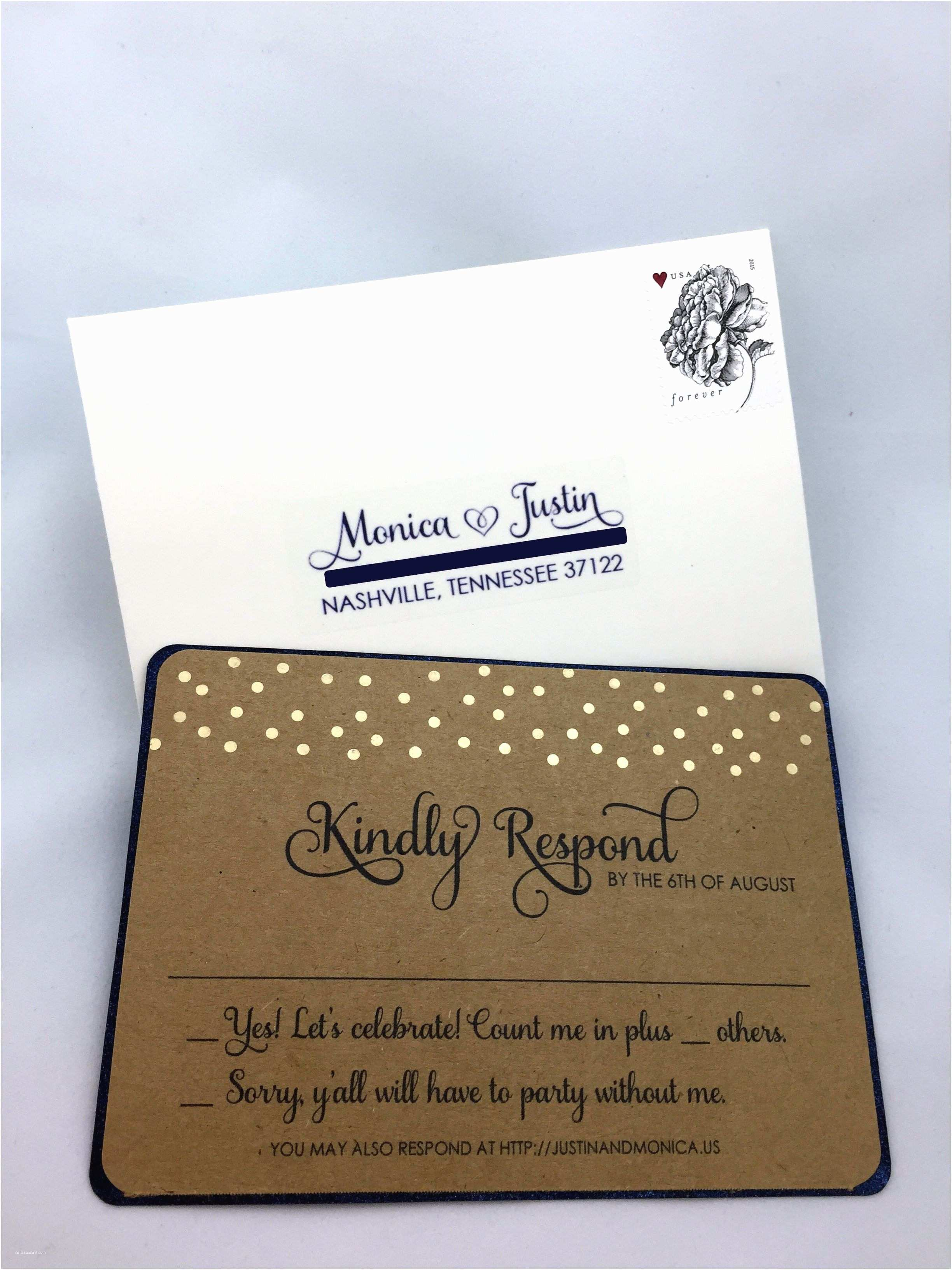 Wedding Invitations with Response Cards and Envelopes Invitations with Response Cards Wedding Invitations with