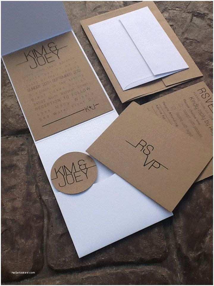 Wedding Invitations With Response S And Envelopes Modern Pocketfold Wedding Invitations Rsvp