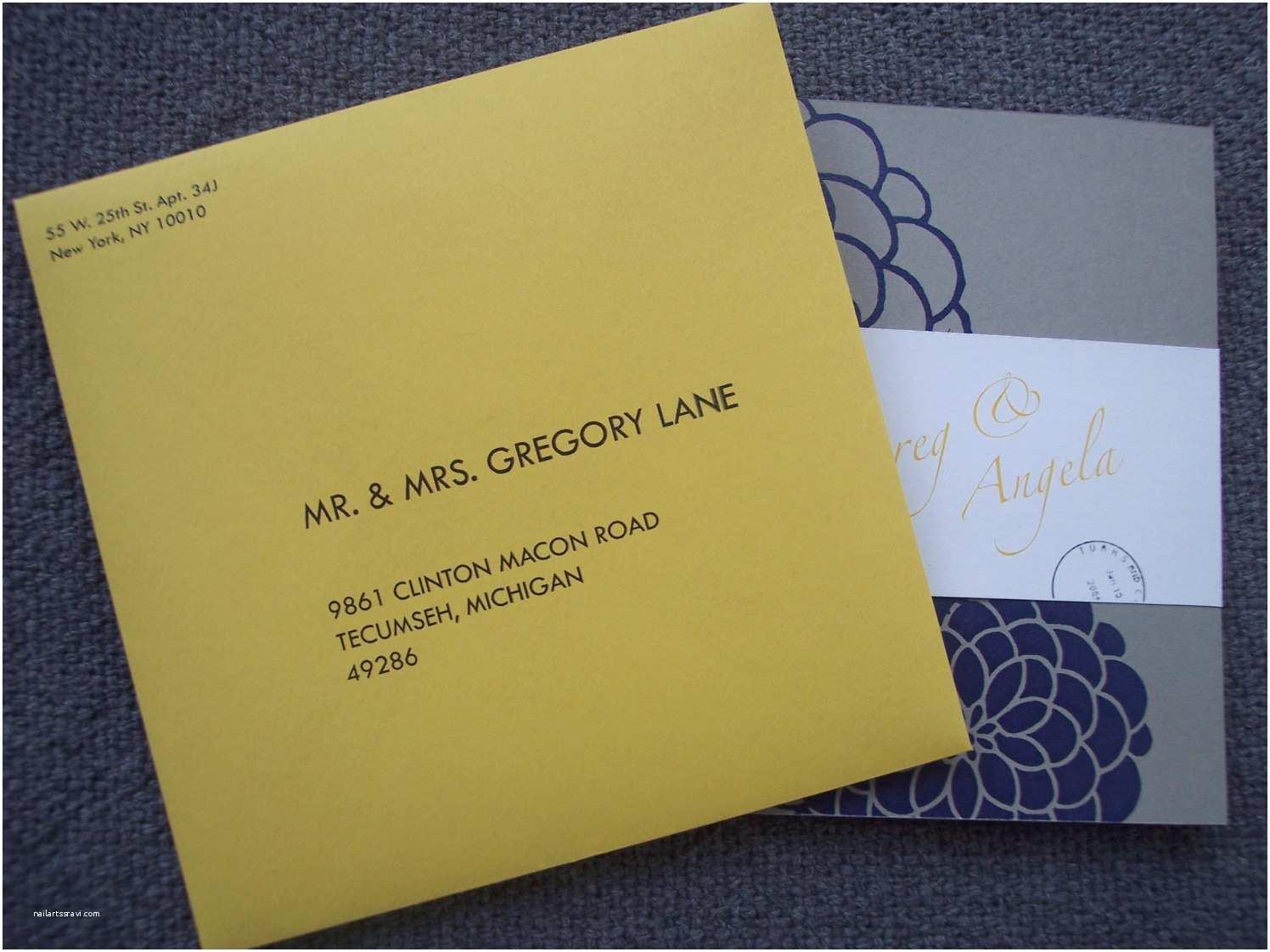 Wedding Invitations with Response Cards and Envelopes Multi Patterned Destination Pocketfold Invitation