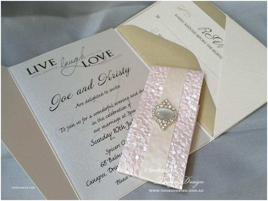 Wedding Invitations With Response  And Envelopes Pocketfold Wedding Invitation 24 Invites Rsvp