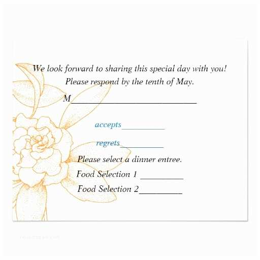 """Wedding Invitations with Response Cards and Envelopes Response Card for Wedding Invitations 4 25"""" X 5 5"""