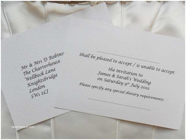 Wedding Invitations With Response Cards And Envelopes  Cards With Envelope  Cards Reply Cards