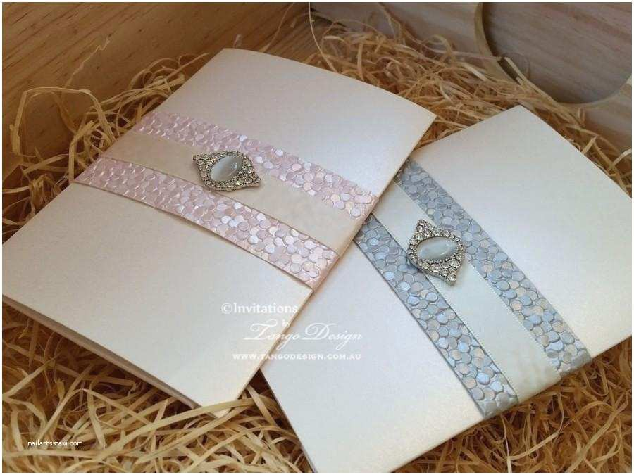 Wedding Invitations With Response  And Envelopes Silver And Pink Invitation 24 Wedding Invites Rsvp
