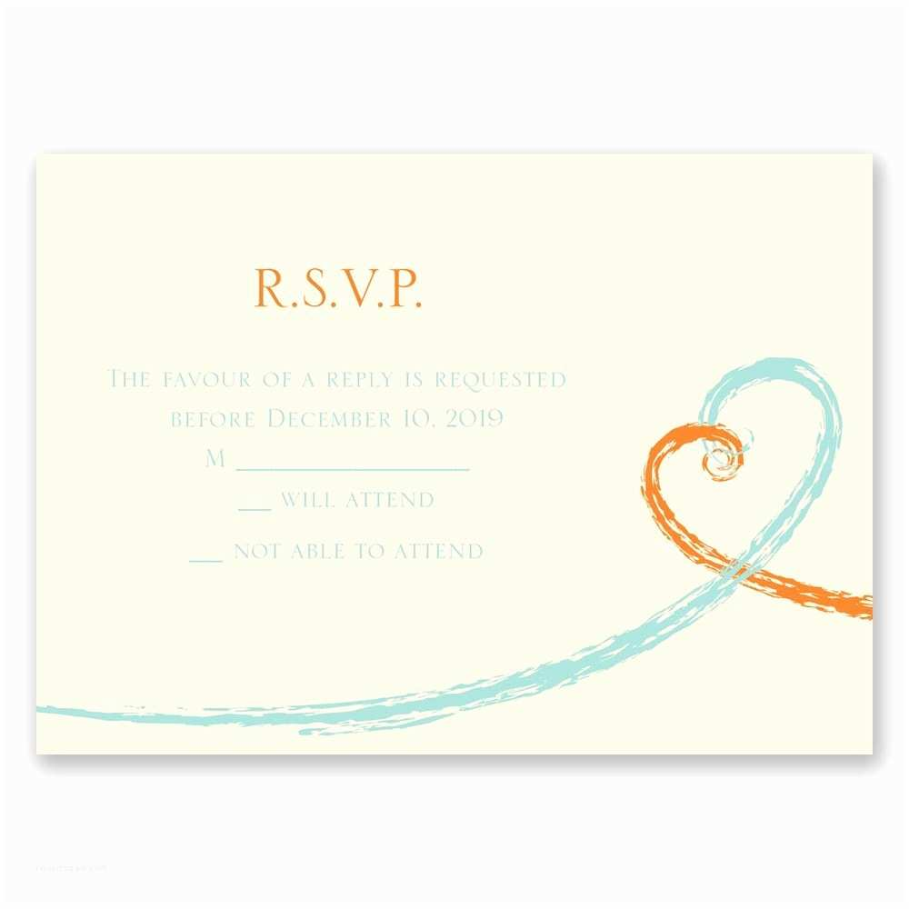 Wedding Invitations with Response Cards and Envelopes Swirl Hearts Response Card and Envelope