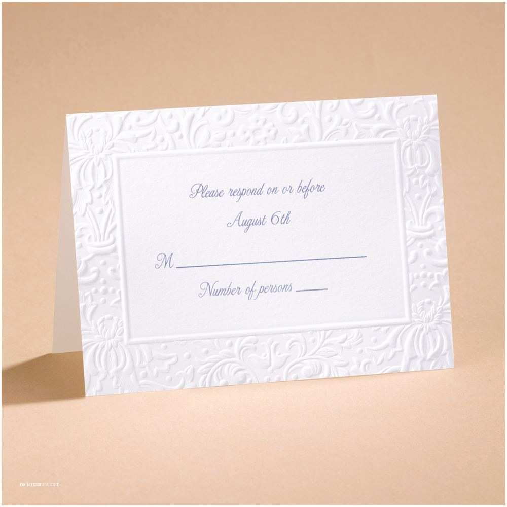 Wedding Invitations with Response Cards and Envelopes Ties that Bind Response Card and Envelope
