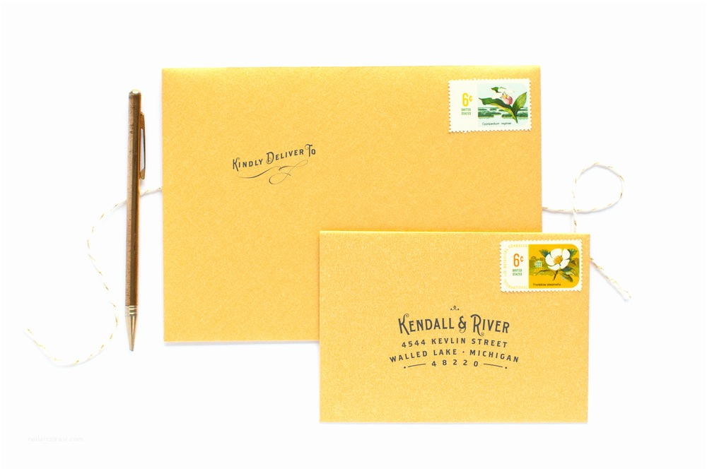 Invitations With Response Cards And Envelopes Vintage Type  Invitation Suite — Alisa Bobzien