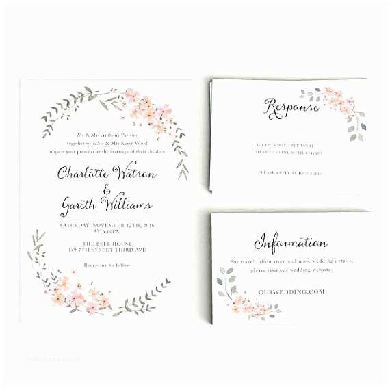 Wedding Invitations With Response Cards And Envelopes Wedding Invitation Envelope Size