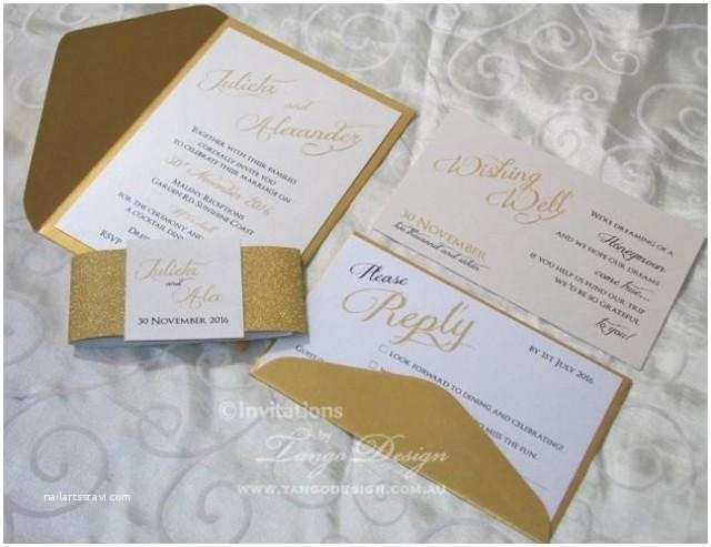 Wedding  With Response Cards And Envelopes Wedding Invitation Suite 24 Pink Gold