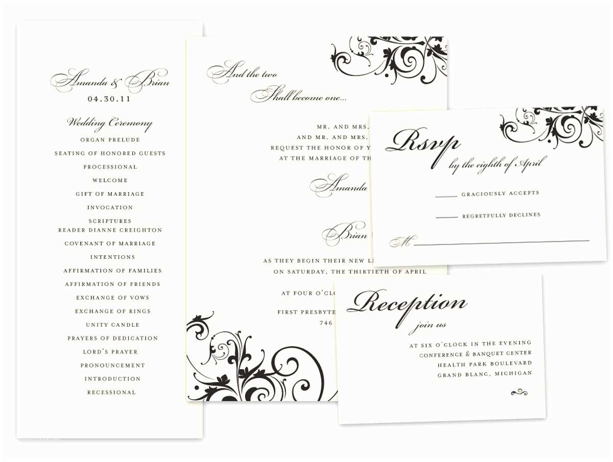 Wedding Invitations With Response  And Envelopes Wedding Invitation Wedding Invitations Response