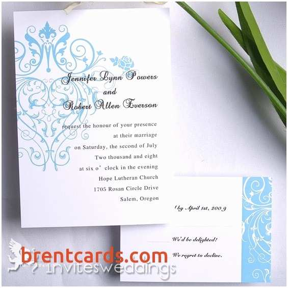 Wedding Invitations With Response Cards And  Wedding Invitations With Response Cards And