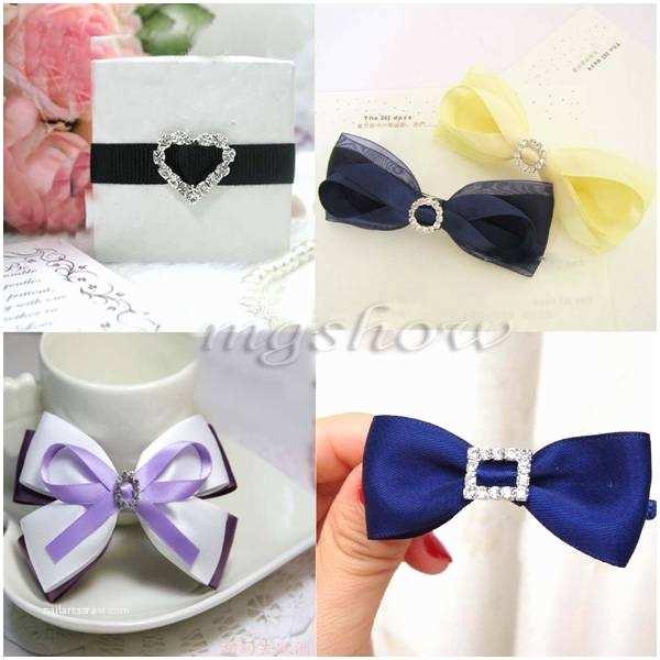 Wedding Invitations with Ribbon and Rhinestones 50x Heart Rhinestone Diamante Buckle Ribbon Slider Wedding