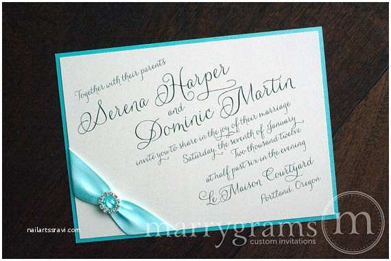 Wedding  With Ribbon And Rhinestones Items Similar To Elegant Tiffany Blue Wedding