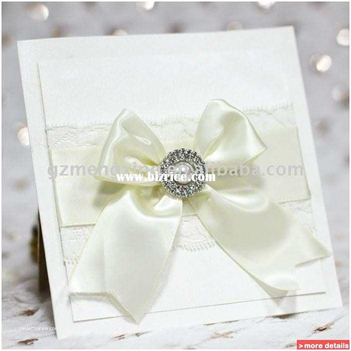 Wedding Invitations with Ribbon and Rhinestones Lace Wedding Invitations Embellish with Rhinestone and