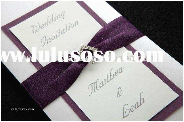Wedding Invitations with Ribbon and Rhinestones Rhinestone Crown Slider Buckle for Invitation Card for