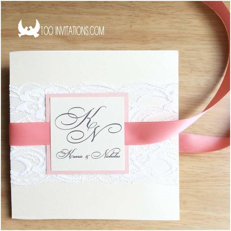 Wedding Invitations with Ribbon Lace Wedding Invitations Free Shipping